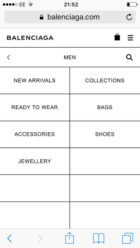 balenciaga categories