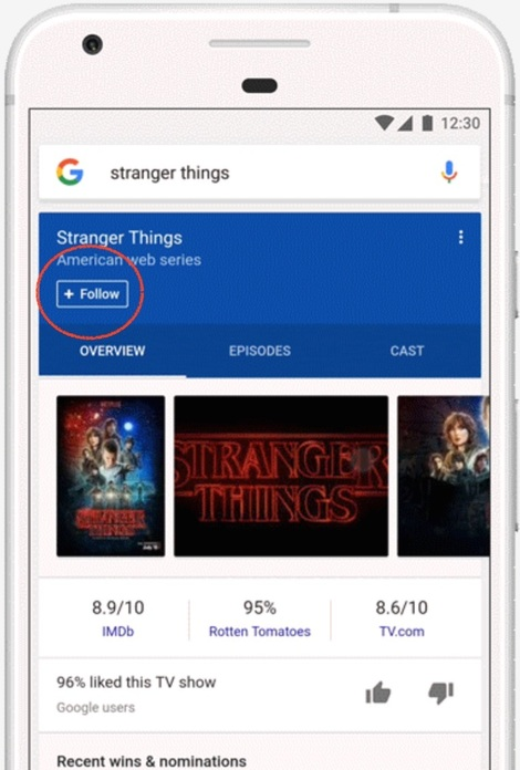 follow google app