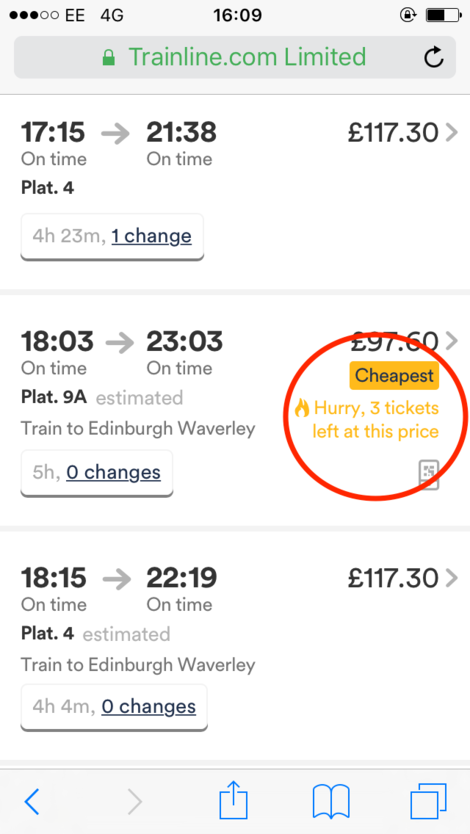 trainline cheapest price