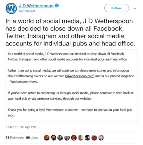 jd wetherspoon statement