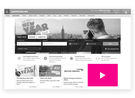lastminute.com video ads