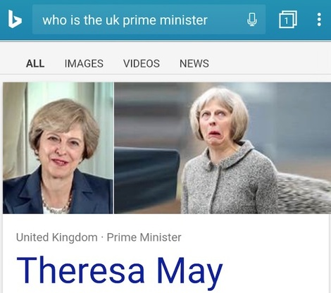 bing 'who is the uk prime minister?'