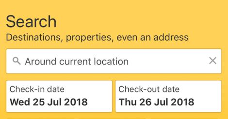 booking.com search