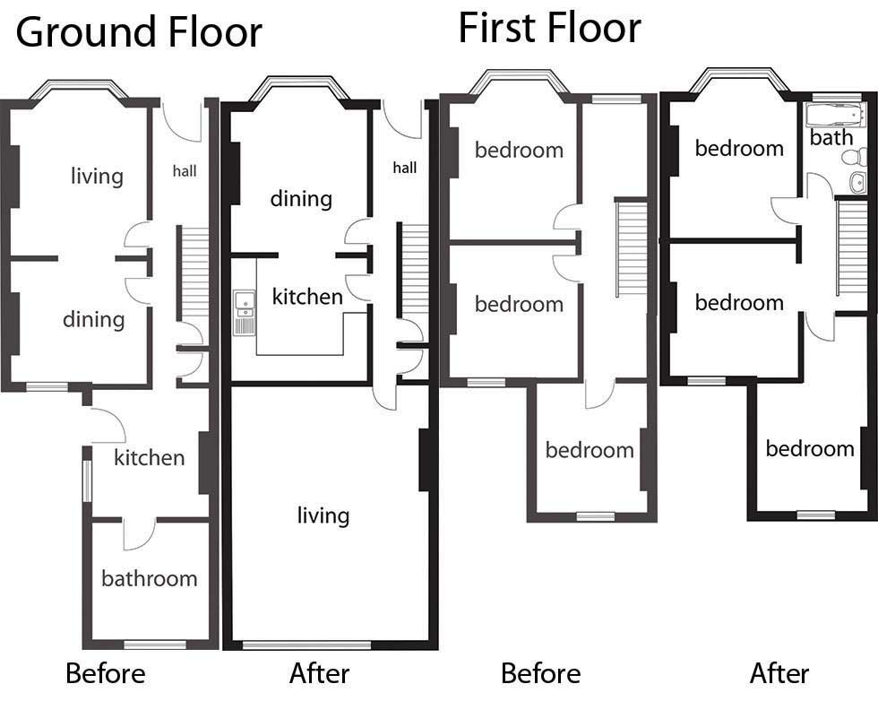 Terraced house floor plans uk house design plans for Uk house floor plans