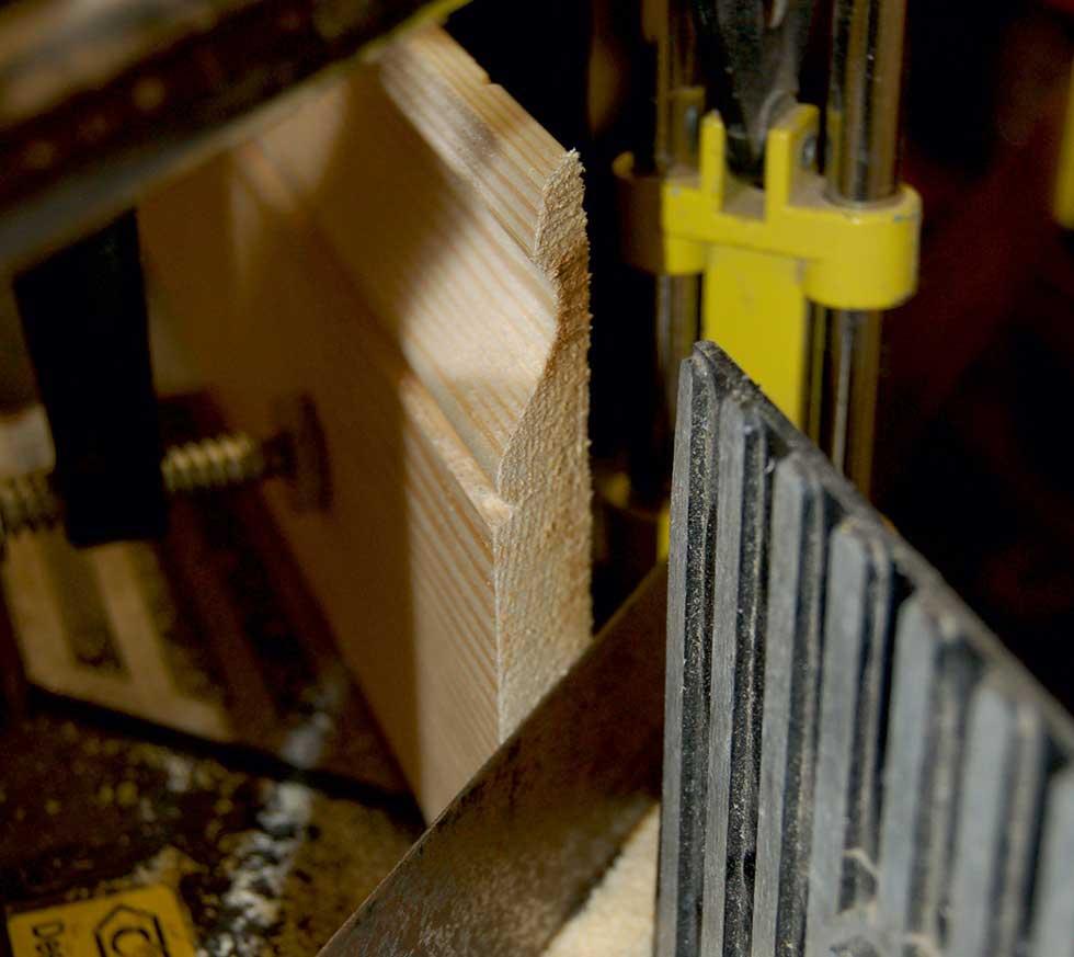 8. Cut external mitre