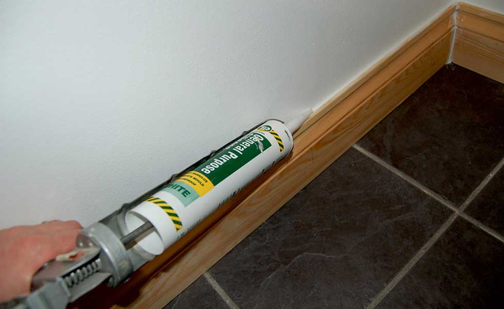 12. Fill any gaps with caulk