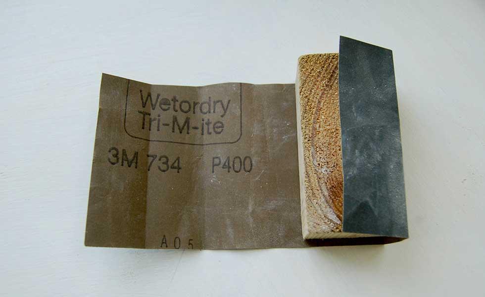 wet or dry sandpaper