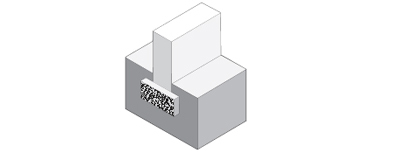strip foundation illustration