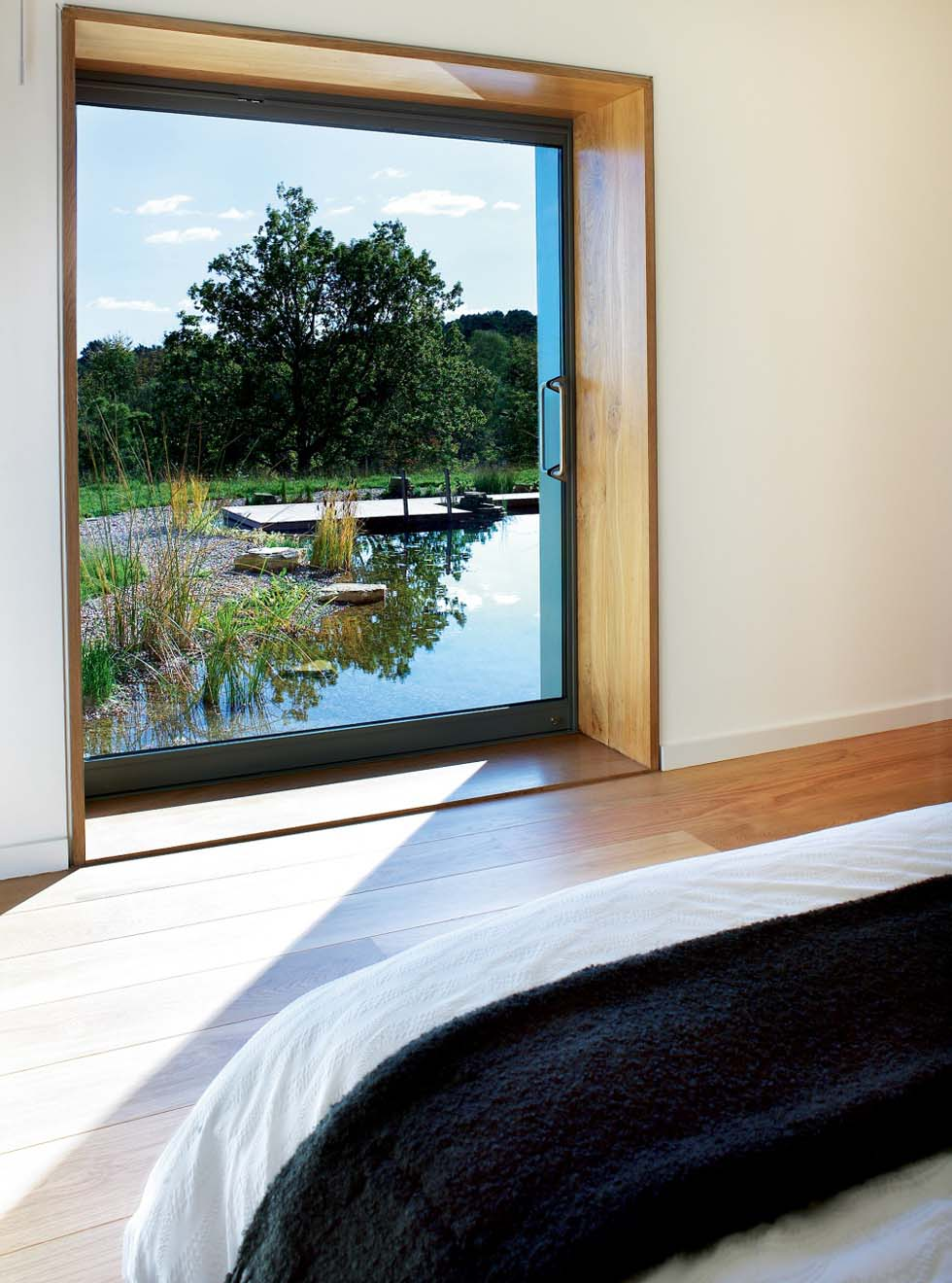 PAD house freshwater pond viewed from the bedroom
