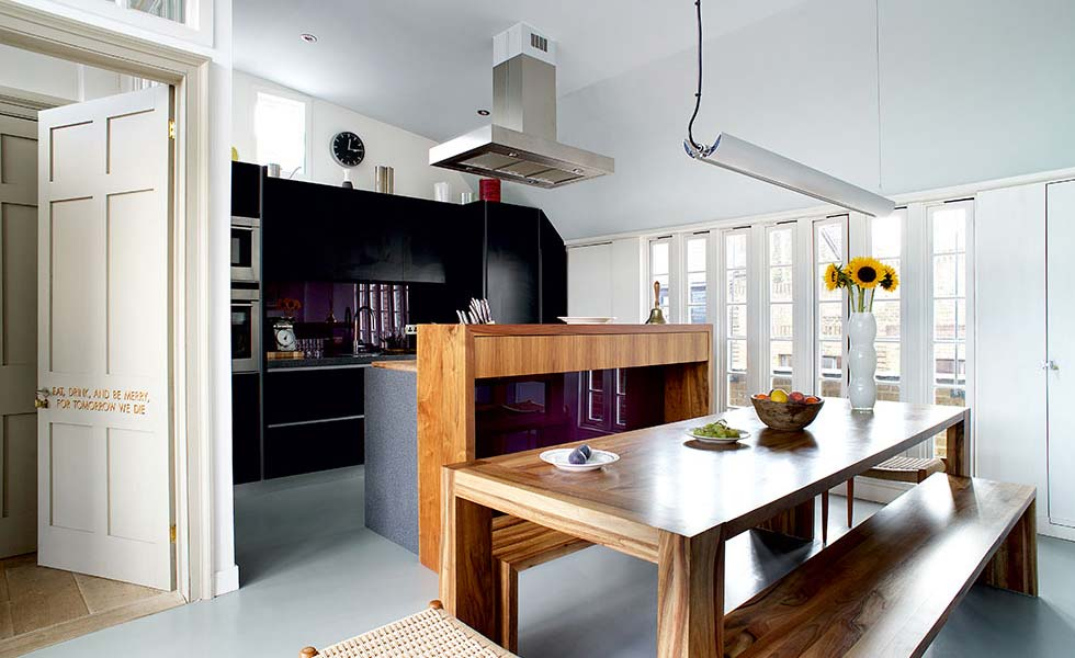 Kitchen loft conversion in a London townhouse