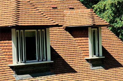 The roof of the dormer should be in keeping with the style of the roof itself