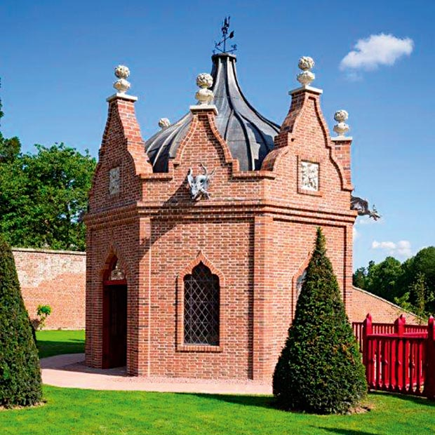 a pavilion garden building by york handmade brick company bespoke brickwork garage office