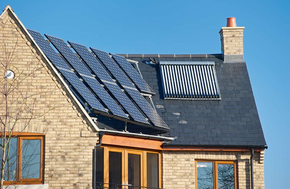 Solar thermal evacuated tubes and photovoltaics