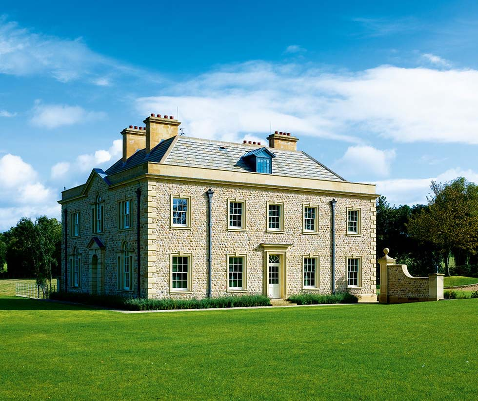 A modern stately home homebuilding renovating for New homes to build