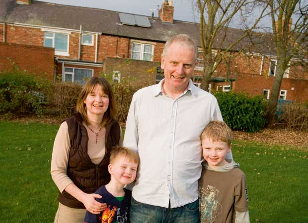 The Tombs family installed solar panels as part of a bid to improve the efficiency of their home in Tyne & Wear