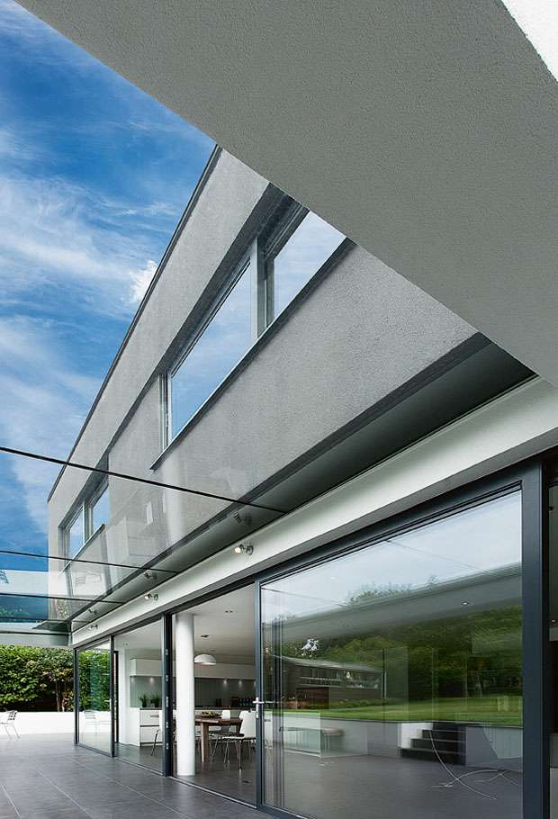 contemporary home with large expanses of glazing
