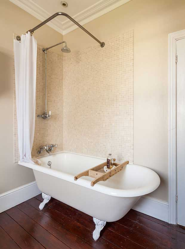 The bathroom in the Victorian terrace in Eltham
