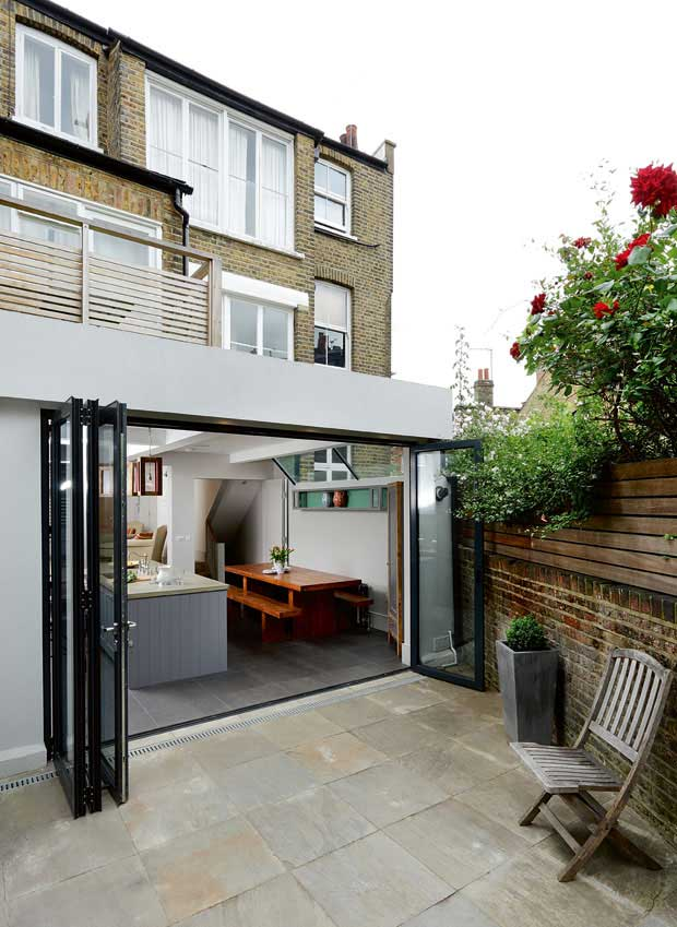 a stepped down extension in london