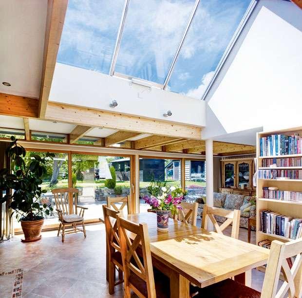 kitchen diner in glazed extension