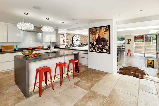 A Contemporary Kitchen With Lots Of Accessories Part 90