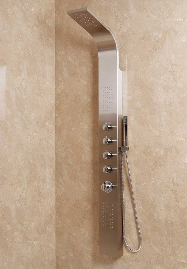 AquaUno Thermostatic Shower Panel