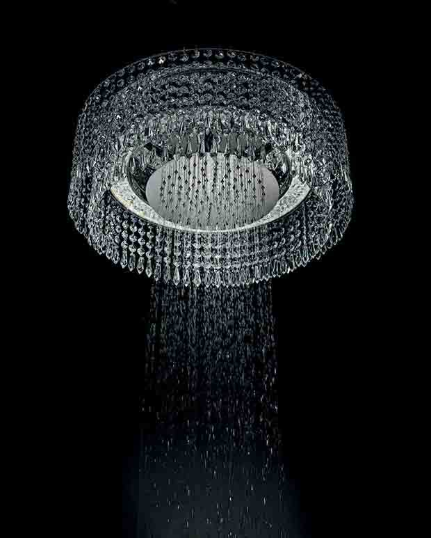 Bisazza Bagno Chandelier Shower Head by Marcel Wanders