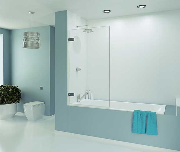 Merlyn Wall Hinged Bath Screen