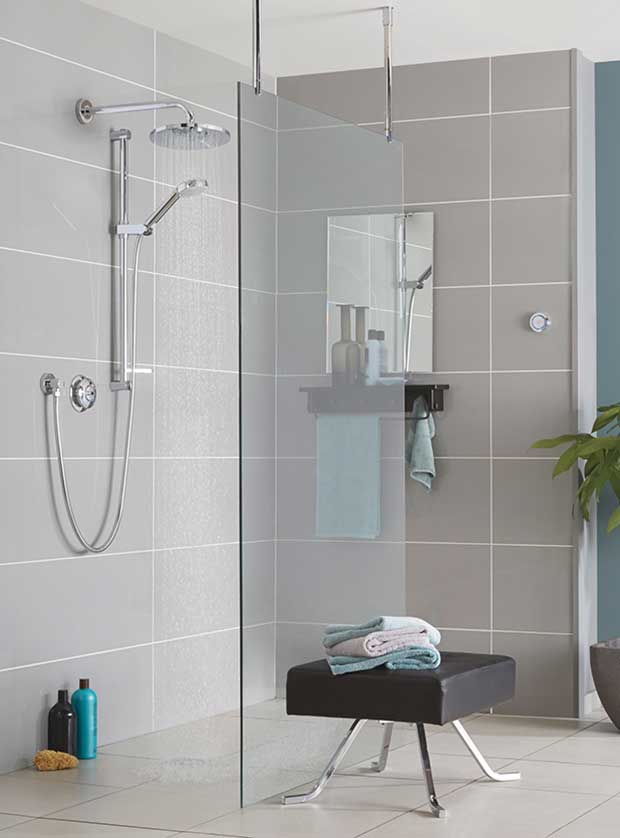 Quartz Digital Divert Shower