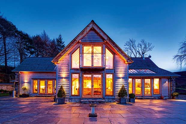 Welsh Oak Frame home in Powys