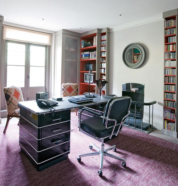 Functional, stylish home office designed by Charlotte Crosland