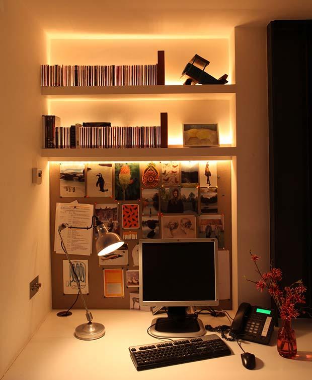 Home office with a John Cullen lighting scheme