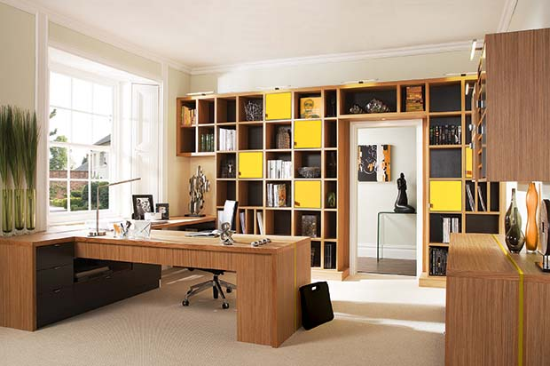 Home office storage by Neville Johnson