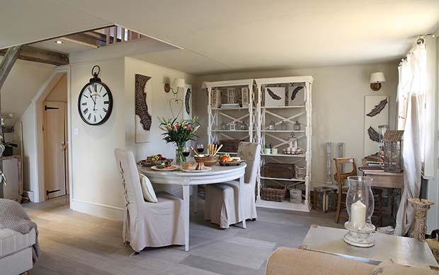 Interiors of Turtledove Hideaway holiday cottage in Whitchurch Shropshire