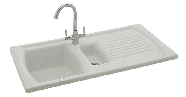 the solaris 150 inset 15 bowl sink from carron phoenix - Kitchen Sinks Ceramic