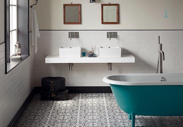 Innovative Encaustic Tiles Bathroom Floor