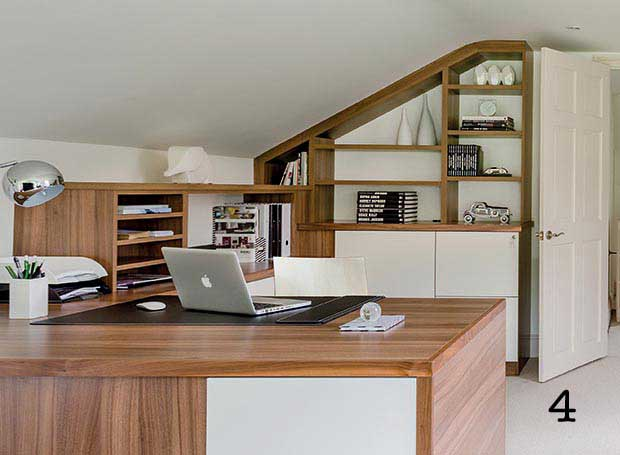 Round the door office built in storage