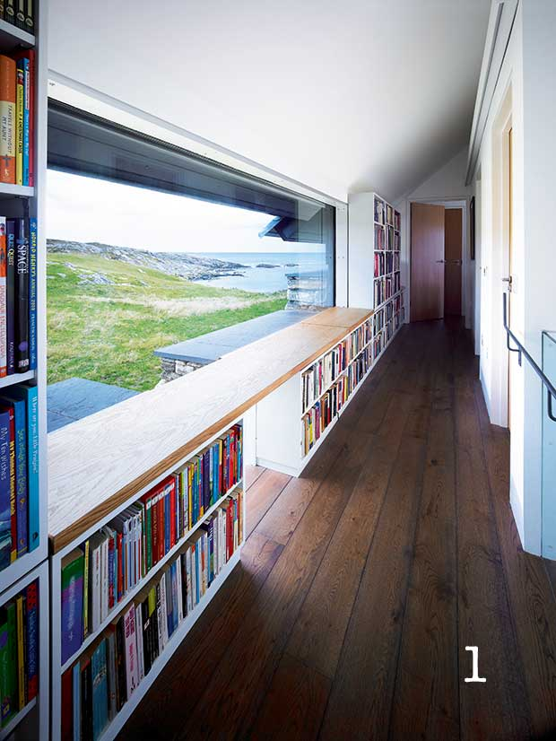 Round window bookshelves