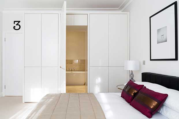 Built in storage disguising an en suite