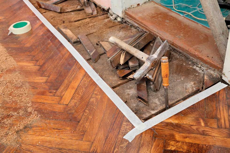 Renovating old floors homebuilding renovating for Parquet renovation