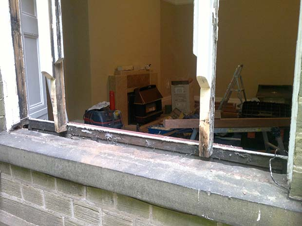 repairing a window cill