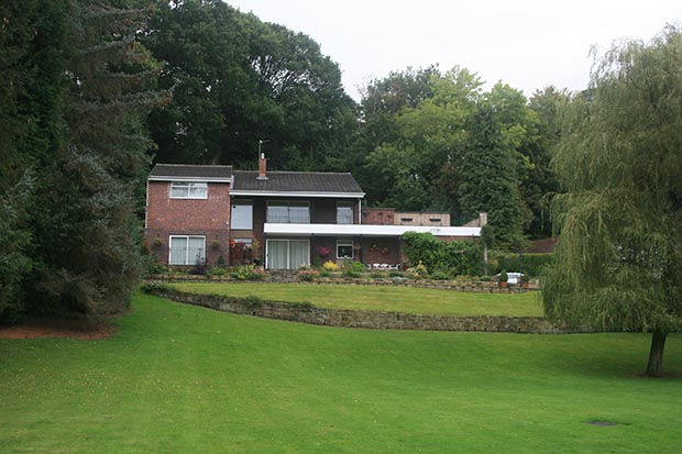 1960s hunting lodge style home in Northumberland prior to renovation
