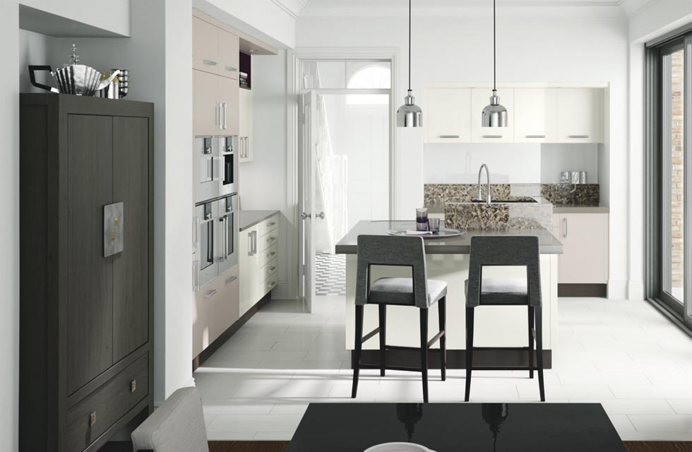 This Linear kitchen in cashmere and porcelain from Metris is proced from £20,000