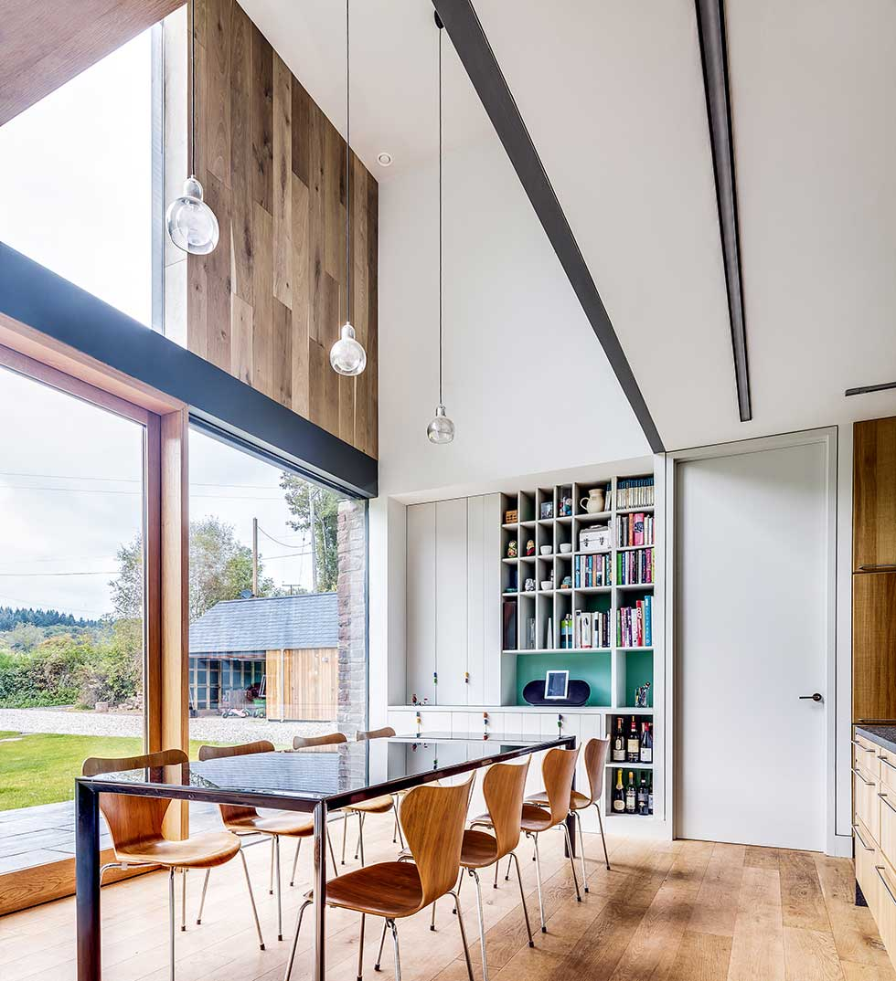 Timber cladding in a contemporary home designed by Hall & Bednarczyk Architects