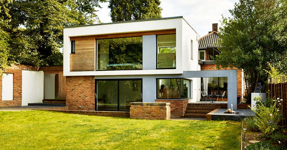 Modern extension design gallery homebuilding renovating for Flat roof bungalow designs