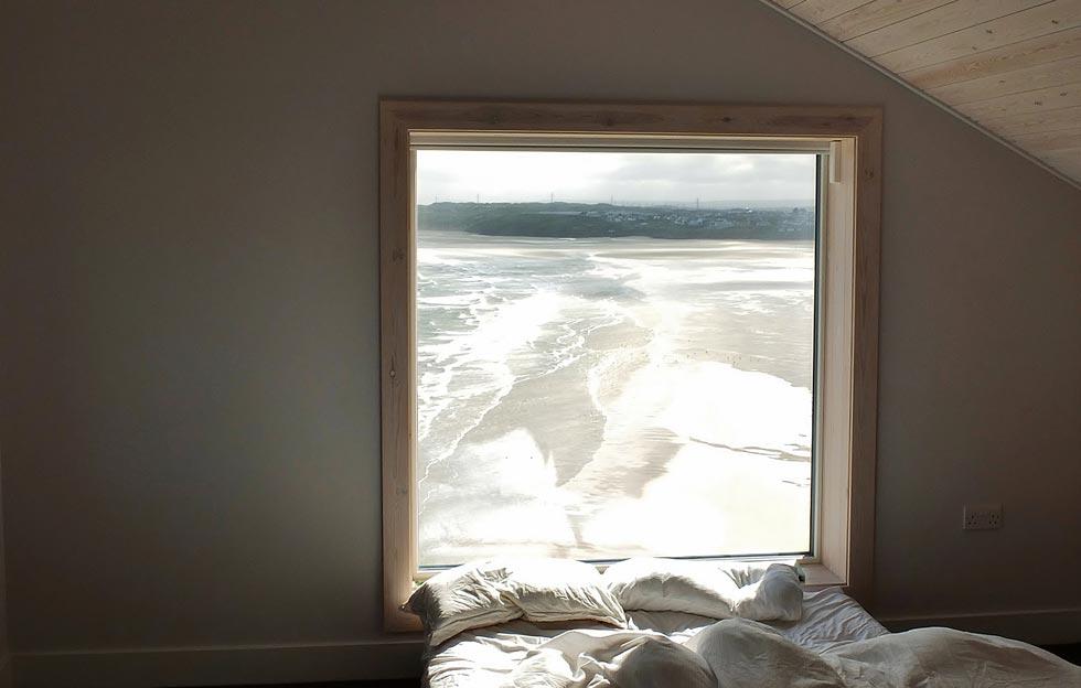 Wooden window frame from Livingwood