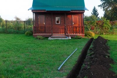 ground source heat pump trench