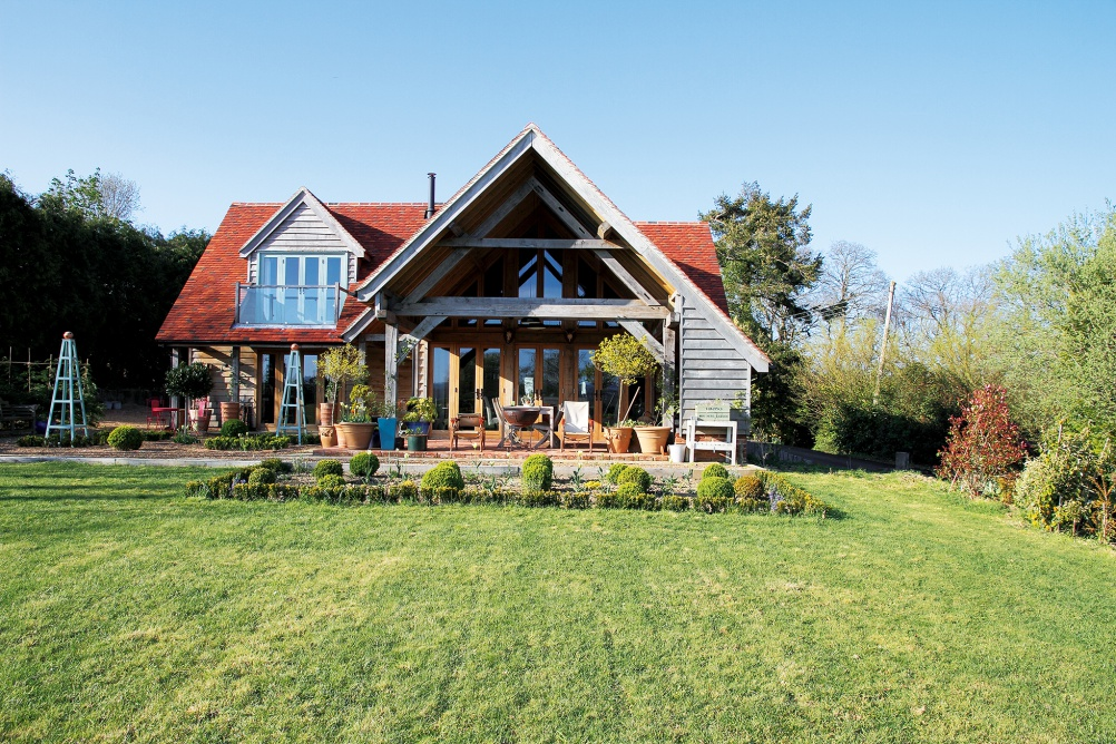Oak frame home by Stephen Evans Associates