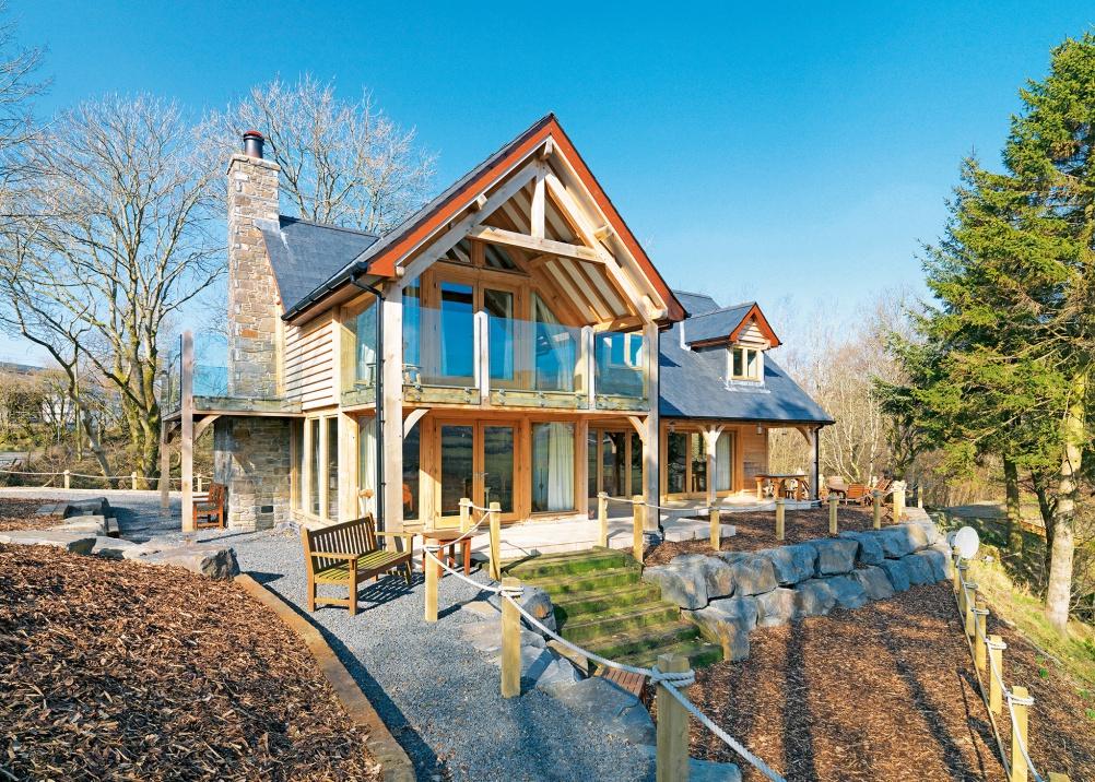 Oak frame house by Welsh Oak Frame
