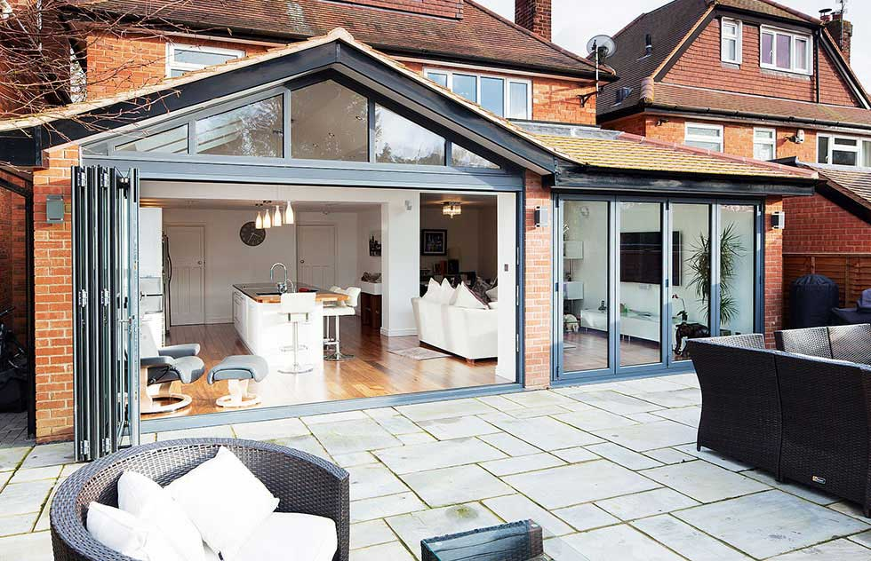 Patio doors bi fold sliding or french homebuilding autos for Fold out patio doors