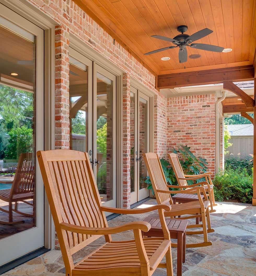 Patio doors bi fold sliding or french homebuilding for Sliding glass doors onto deck